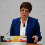 This photo show former German Christian Democratic Union party leader Annegret Kramp-Karrenbauer, who resigned earlier in February.