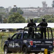 The Federal Police of Mexico patrol near the Puente Grande prison in Zapotlanejo, Jalisco, from which Rafael Caro Quintero was freed on Aug. 9, 2013.