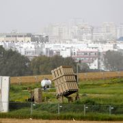 An Iron Dome battery, designed to intercept and destroy incoming short-range rockets and artillery shells, is pictured on March 30, 2019, in the Israeli town of Ashdod.