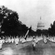 A Ku Klux Klan march Aug. 19, 1925, on Pennsylvania Avenue in Washington.