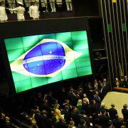 General view of the National Congress before Jair Bolsonaro's Jan. 1, 2019, swearing into the presidency in Brasilia.