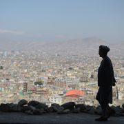 A man walks in Kabul