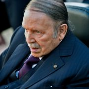Algerian President Abdel Aziz Bouteflika is seen heading to vote at a polling station in Algiers on November 23, 2017.