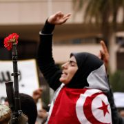 Protesters demand changes to Tunisia's newly formed government Jan. 20, 2011, less than a week after mass demonstrations forced longtime President Zine el Abedine Ben Ali to step down from office.