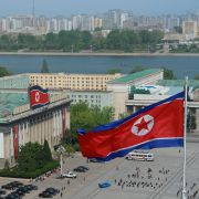 Kim Il Sung Square in Pyongyang, North Korea.