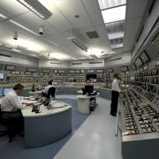 Specialists monitor dials in the control room of the Angra 1 nuclear plant in Angra dos Reis in Brazil's Rio de Janeiro state on April 12, 2011.