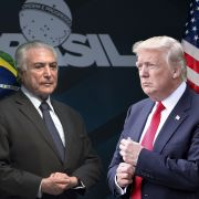 Brazilian President Michel Temer and U.S. President Donald Trump, shown together in a photo illustration.