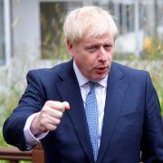 This photo shows British Prime Minister Boris Johnson