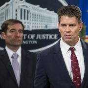 Deputy FBI Director David Bowdich speaks at a news conference in Washington, D.C., on Nov. 1 regarding new law enforcement action against China's economic espionage activities.