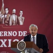 Mexican President Andres Manuel Lopez Obrador answers questions during a news conference in Mexico City on Dec. 14, 2018.