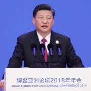 Chinese President Xi Jinping speaks at the Boao Forum for Asia on April 10, 2018.