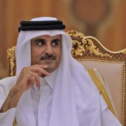 Sheikh Tamim bin Hamad al-Thani, Qatar's emir, met with French President Emmanuel Macron in Doha on Dec. 7, one day after the annual Gulf Cooperation Council Summit was scheduled to wrap up.