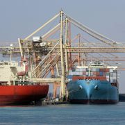 Containerships in Saudi Arabia's Jeddah Islamic Port on Dec. 13, 2007.