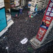 Protestors fill the streets in Hong Kong, June 16, 2019.