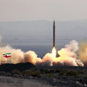 This photo shows Iran's successful test launch of its Qiam-1 ballistic missile