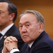 Kazakh President Nursultan Nazarbayev is pictured here on June 7, 2018, during a visit to Beijing.