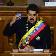 Venezuelan President Nicolas Maduro speaks to members of the Constituent Assembly, the new, all-powerful body made up of Maduro supporters, in Caracas in August.