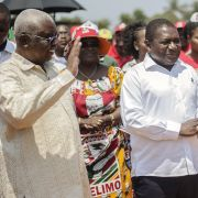 Mozambique's financial quagmire could jeopardize the reign of the Mozambique Liberation Front (Frelimo) or President Filipe Nyusi (C).