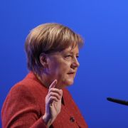 German Chancellor Angela Merkel speaks at the annual congress of the Confederation of German Employers' Associations on Nov. 22, 2018, in Berlin.