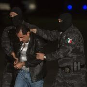 "Favio Gomez, brother of Servando Gomez, also known as ""La Tuta,"" is transported in Mexico City on Feb. 27, 2015, after his capture."