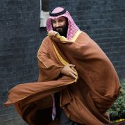 Saudi Crown Prince Mohammed bin Salman arrives for a meeting with British Prime Minister Theresa May in London on March 7, 2018.
