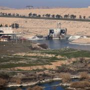 A picture taken on February 1, 2016, shows the Mosul Dam on the Tigris River, around 50 kilometres north of the Iraqi city of Mosul. The United States is monitoring Iraq's largest dam for signs of further deterioration that could point to an impending catastrophic collapse, US army officers said on January 28, 2016. The Islamic State (IS) jihadist group seized the Mosul Dam briefly in 2014, leading to a lapse in maintenance that weakened an already flawed structure, and Baghdad is seeking a company to make
