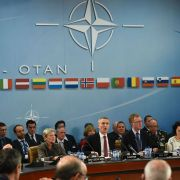 In part 1 of this series on the North Atlantic Treaty Organization, NATO Secretary-General Jens Stoltenberg speaks at a NATO Defense ministers' meeting at the NATO headquarters in Brussels on October 26, 2016.