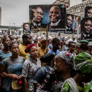 People's Democratic Party (PDP) supporters gather in Lagos