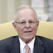 Peruvian President Pedro Pablo Kuczynski sits in the Oval Office of the White House during a meeting with U.S. President Donald Trump in February 2017.