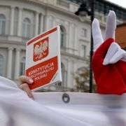 A demonstration in support of Polish Supreme Court judges.