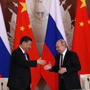 Chinese President Xi Jinping and Russian President Vladimir Putin meet in the Kremlin in Moscow on June 5, 2019.