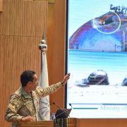 A Saudi Defense Ministry official speaks in Riyadh on Sept. 18, 2019, following Sept. 14 attacks on Saudi Aramco facilities in Abqaiq and Khurais.