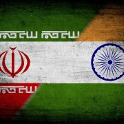 This illustration combines the flags of Iran and India.