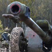 Ukrainian gunners participate in a drill near Kiev in late 2017.
