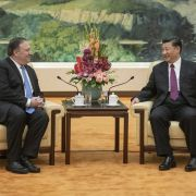 U.S. Secretary of State Mike Pompeo meets with Chinese President Xi Jinping on June 14 in Beijing.