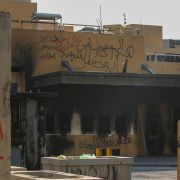 The U.S. Embassy in Baghdad is seen on Jan. 2, 2020, following an attack on the facility.