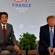 Japan's Prime Minister Shinzo Abe and U.S. President Donald Trump