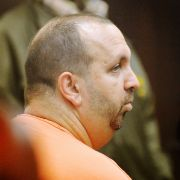 Craig Stephen Hicks is shown here in court on Feb. 11, 2015, the day after authorities say he fatally shot three Muslim college students in Chapel Hill, North Carolina.