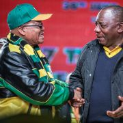 The fortunes of South African President Jacob Zuma, left, have looked bleak since the end of 2017, when the ANC elected Zuma's rival, Cyril Ramaphosa, right, as its new party president.