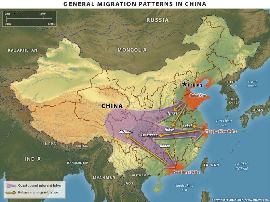 General Migration Patterns In China Stratfor