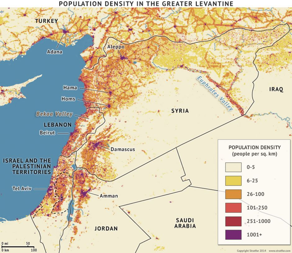 Population Density in the Greater Levantine