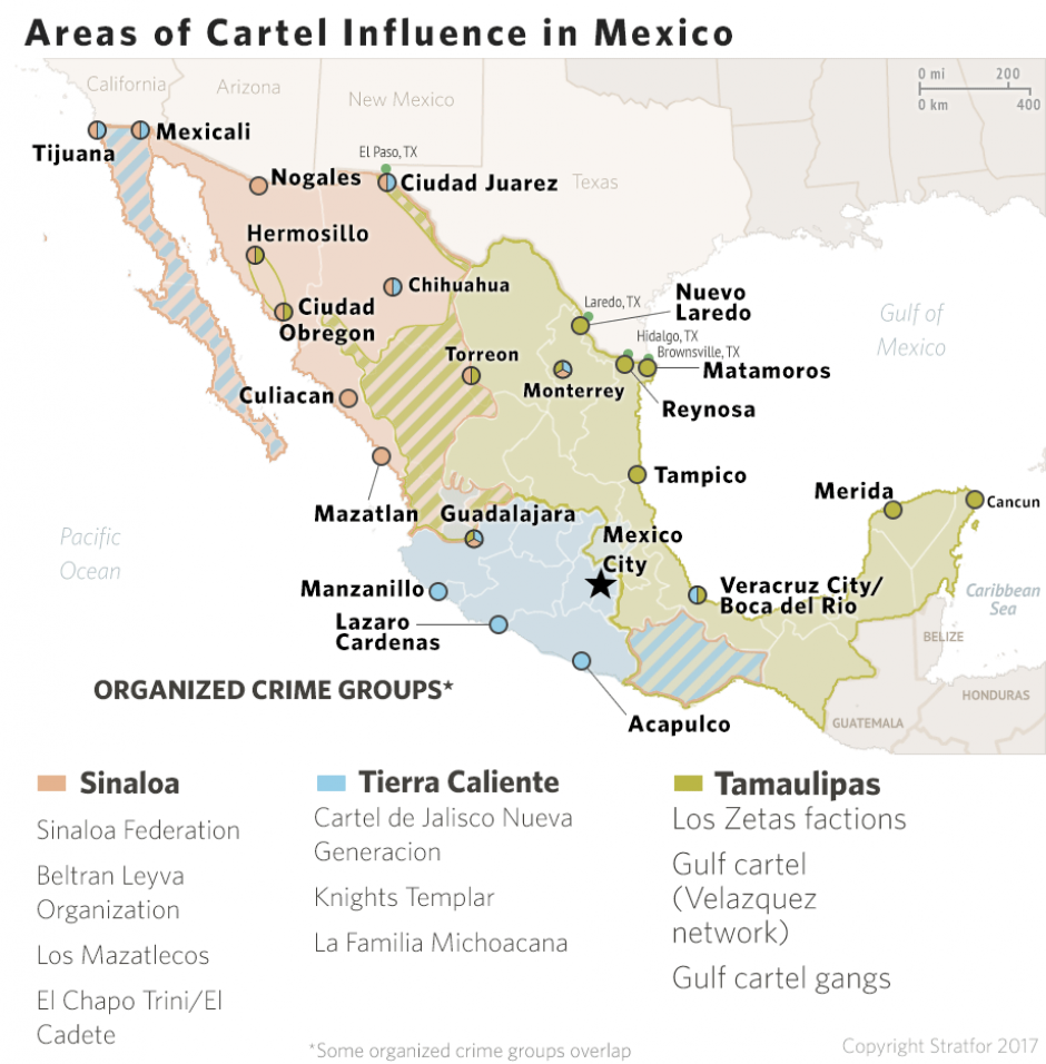 Cartels In Mexico Map.Bill O Reilly Stratfor Com Intel Briefing Mexico S Cartels Will