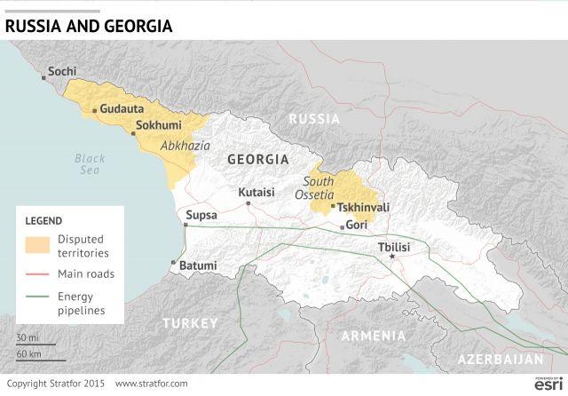 Russia Quietly Encroaches On Georgia Stratfor Worldview - Abkhazia georgia russia map