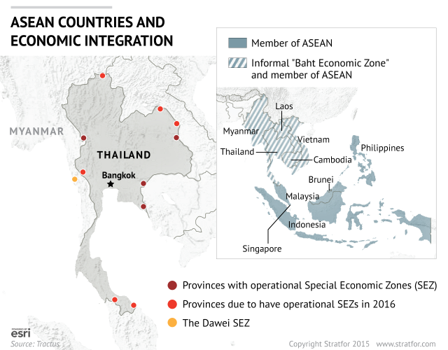 How Thailand Hopes To Capitalize On Its Neighbors Success - Economic zones southeast asia map