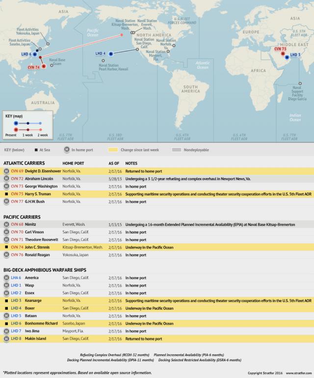 Naval Update Map: Feb. 18, 2016