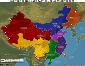 map of China's military regions