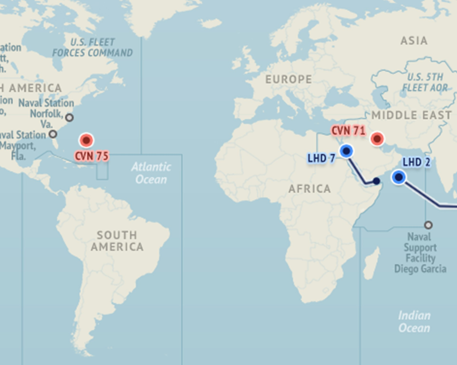 US Naval Update Map Jan   Stratfor Worldview NRH NOSC - Map us and europe