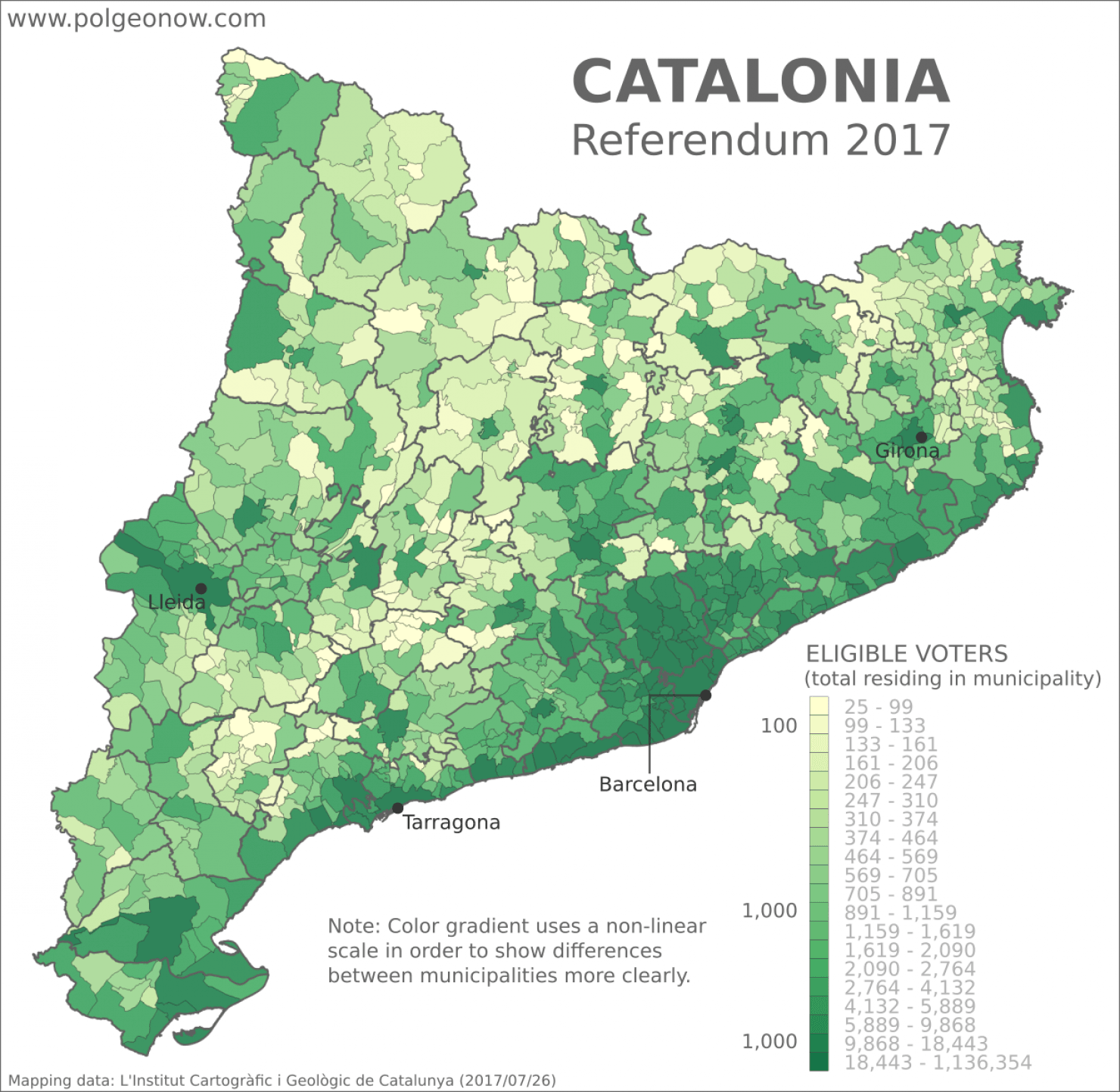 Catalonia Referendum Detailed Results in 5 Maps