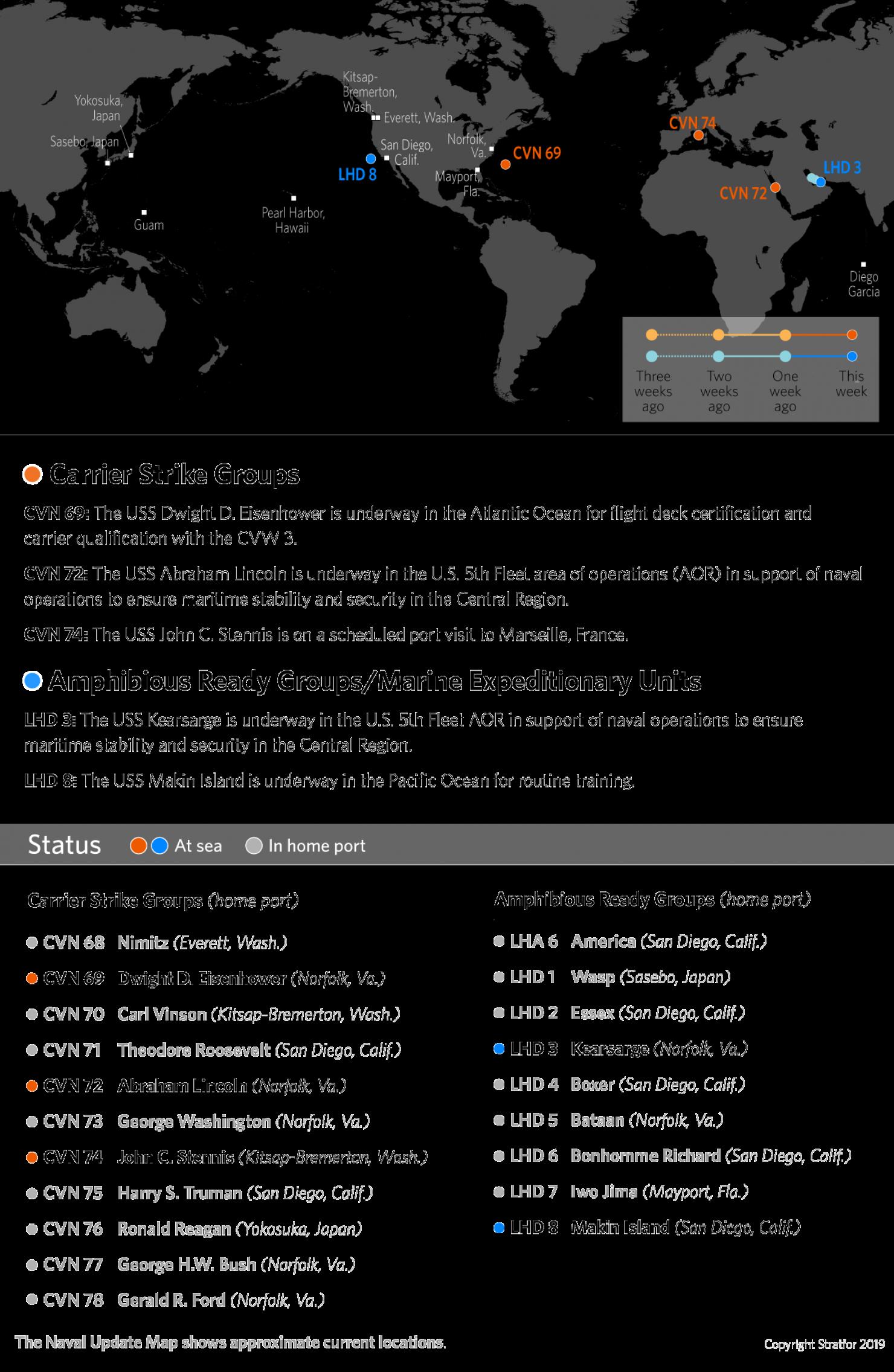 U.S. Naval Update Map: May 2, 2019