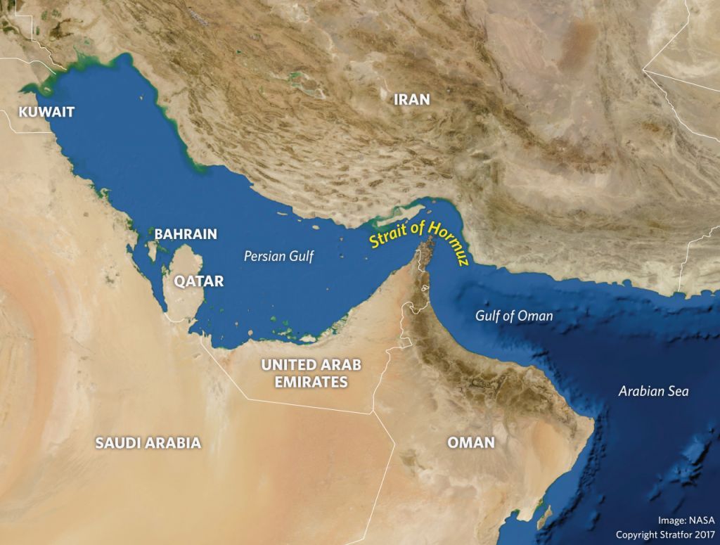 Middle East Map Strait Of Hormuz.Why Iran Is Threatening To Close The Strait Of Hormuz Realcleardefense